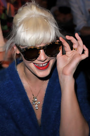 Micky showed off a cool pair of round sunglasses while sitting front row at the Sonia Rykiel show.