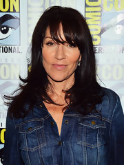 Katey Sagal sported wavy ends and wispy bangs at the 2012 Comic-Con.