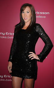 Jelena Jankovic was all glammed up in a beaded LBD at the Sony Ericsson Open kick-off party.