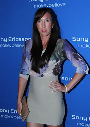 Jelena Jankovic rocked a high-waist nude mini skirt at the Sony Ericsson Open Players Welcome Party.