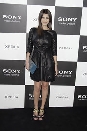 Maria Jose Suarez opted for this edgy black leather dress for a cool and modern look while at the Sony Xperia premiere in Madrid.