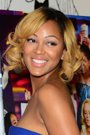 Meagan Good went super sweet with this curly bob at the Philadelphia screening of 'Think Like a Man Too.'