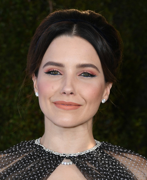 Sophia Bush Beehive [hair,face,eyebrow,lip,hairstyle,chin,beauty,forehead,fashion,cheek,arrivals,sophia bush,screen actors guild awards,screen actors\u00e2 guild awards,the shrine auditorium,los angeles,california]