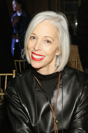 Linda Fargo sat front row at the Sophie Theallet Fall 2016 show wearing a silver bob.