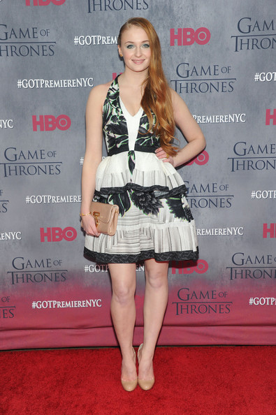 Sophie Turner Patent Leather Clutch