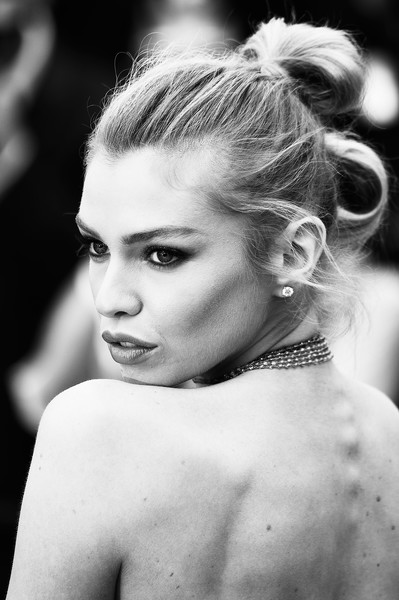 More Pics of Stella Maxwell Layered Diamond Necklace (1 of 31) - Stella Maxwell Lookbook - StyleBistro [aimer et courir vite during the 71st annual cannes film festival,hair,hairstyle,photograph,face,black-and-white,beauty,shoulder,chignon,eyebrow,monochrome,red carpet arrivals - the 71st annual cannes film festival,sorry angel,may 10,plaire,aimer et courir vite,screening,palais des festivals,cannes,france]