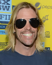 Taylor Hawkins sported classic aviator shades for his red carpet look at the 'Sound City' screening at SXSW.