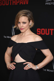 Rachel McAdams accessorized with loads of Tiffany & Co. jewels for the New York premiere of 'Southpaw.'