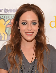 Carly Chaikin topped off her cool and trendy look with an edgy smoky eye.