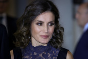 Queen Letizia of Spain traded in her signature lob for this curly 'do when she attended a concert to commemorate the 40th anniversary of the Spanish Constitution.