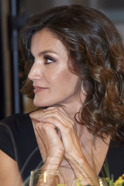 More Pics of Queen Letizia of Spain Cocktail Dress (8 of 24) - Queen Letizia of Spain Lookbook - StyleBistro [royals,letizia,francisco cerecedo,francisco cerecedo journalism awards,journalism award,hair,face,hairstyle,chin,lady,eyebrow,brown hair,beauty,black hair,long hair,spanish,spain,madrid,palace hotel]