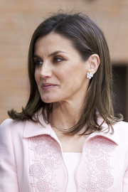 Queen Letizia of Spain sported her signature flippy hairstyle at the Miguel de Cervantes Literature Awards.