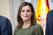 Queen Letizia of Spain opted for a simple shoulder-length 'do with flippy ends when she attended the National Sports Awards.