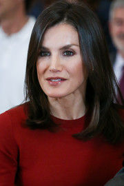 Queen Letizia of Spain sported her signature mid-length bob while receiving the National Water Polo Team at Zarzuela Palace.