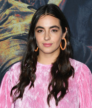 Alanna Masterson looked pretty with her long wavy 'do at the special screening of 'The Walking Dead' season 10.