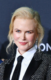 Nicole Kidman wore her hair in a loose side-parted bun at the special screening of 'Bombshell.'