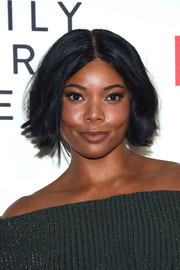 Gabrielle Union sported a subtly wavy center-parted bob at the special screening of 'Nappily Ever After.'