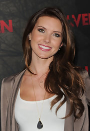 Audrina Patridge wore a glossy muted raspberry lipstick to a screening of 'The Raven.'