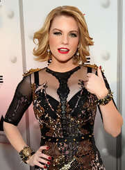 Carrie Keagan polished her stiletto nails with a rich red metallic shade at Spike TV's 2011 Video Game Awards.