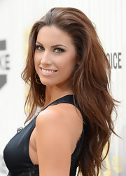 Katherine Webb's brunette tresses looked super lovely when styled into a choppy long layered 'do.