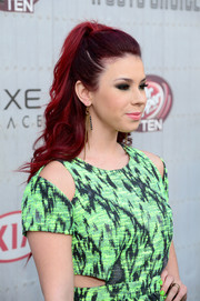 Jillian Rose Reed pulled her locks back in a wavy half-up style for Spike TV's Guys Choice 2014.