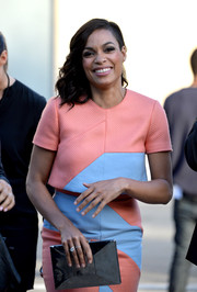 Rosario Dawson attended Spike TV's Guys Choice 2014 carrying a shiny black Kate Spade New York clutch.