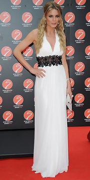 Charlotte Jackson wore this simply elegant white dress at the Sport Industry Awards.