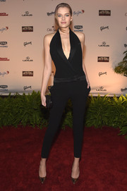 Solveig made menswear look so sexy with this tux-style jumpsuit at the SI Swimsuit Takes Over the Schermerhorn event.