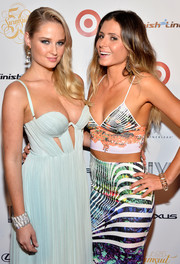 Pro surfer Anastasia Ashley wore a colorful crop top to the SE Swimsuit Bash.