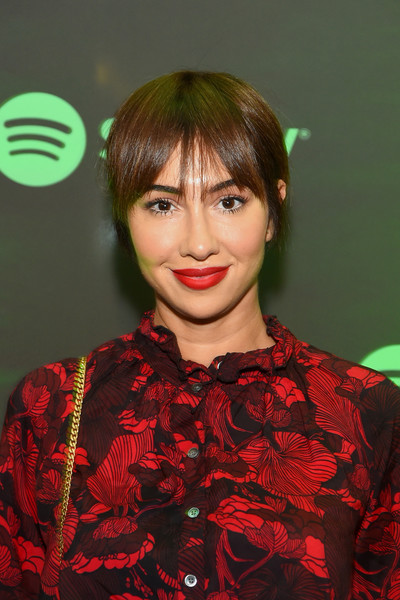 Jackie Cruz looked cute with her short hair and parted bangs at the Soundtrack de Mi Vida campaign celebration.
