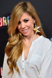 Natalia brought out her star power with over-sized star dangle earrings on the 'Spring Breakers' Madrid red carpet.