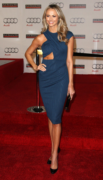 Stacy Keibler Cutout Dress