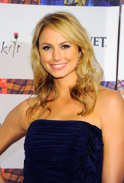 Stacy Keibler Medium Curls [dressed to kilt,hair,hairstyle,beauty,blond,long hair,layered hair,hair coloring,brown hair,dress,shoulder,stacy keibler,arrivals,new york city,hammerstein ballroom,kilt charity fashion show,charity fashion show]