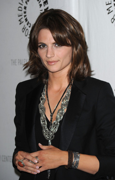 Stana Katic Silver Chain