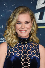 Rebecca Romijn looked ultra feminine with her lush curls at the premiere of 'Star Trek: Discovery' season 2.