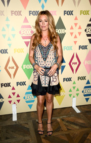Cat Deeley brought a '20s vibe to the Fox All-Star Party with this stone-embellished flapper dress by Etro.