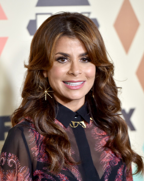 Paula Abdul wore sweet-looking waves and parted bangs to the Fox All-Star Party.