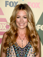 Cat Deeley looked like she just stepped out of a shampoo commercial with her glowing waves during the Fox All-Star Party.