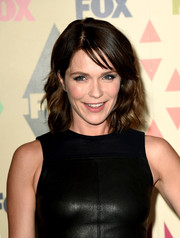 Katie Aselton looked cute at the Fox All-Star Party with her shoulder-length waves and wispy bangs.