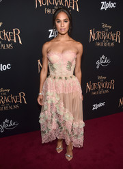 Misty Copeland completed her red carpet look with a pair of bejeweled sandals.