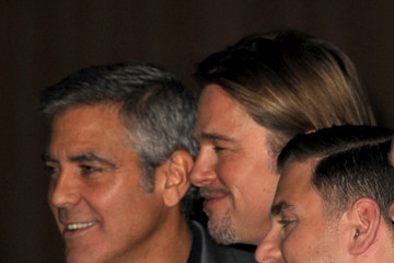 Brad Pitt George Clooney Stars at the Oscar Nomination Lunch