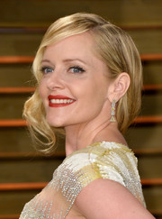 Marley Shelton styled her hair into an ultra-glam retro updo for the Vanity Fair Oscar party.