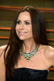 Minnie Driver was hippie-glam at the Vanity Fair Oscar party with her long center-parted 'do.