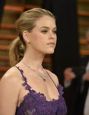 Alice Eve opted for a casual ponytail when she attended the 