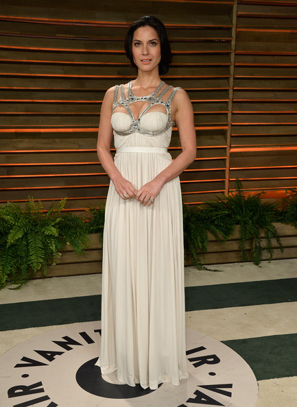 In Alexander McQueen At The 2014 Vanity Fair Oscar Party