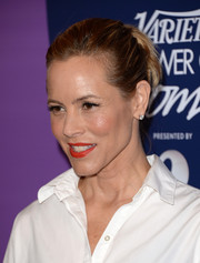Maria Bello wore her hair in a messy-chic ponytail when she attended the Variety Power of Women event.