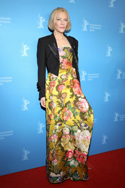 Cate Blanchett looked beautiful in a colorful floral gown by Dries Van Noten at the Berlinale premiere of 'Stateless.'