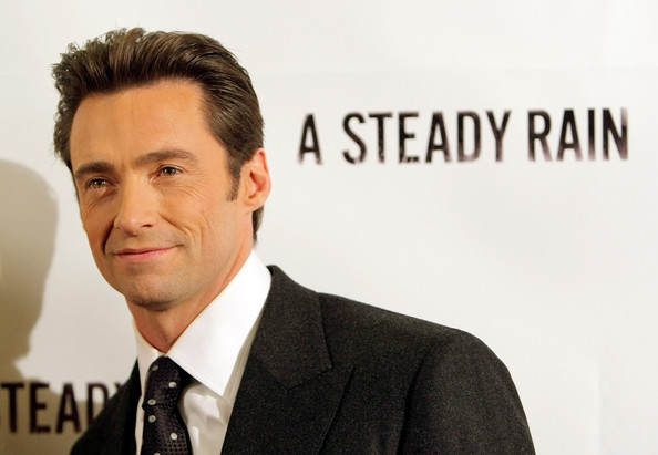 Jackman slicks back his hair for a formal event at the Harvard Club.