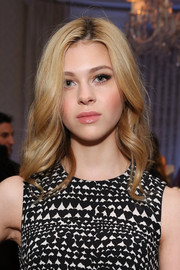 Nicola Peltz played up her pout with lots of lipgloss.