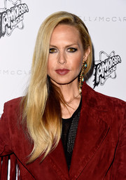 Rachel Zoe sported kohl-rimmed eyes for a punk-glam beauty look.
